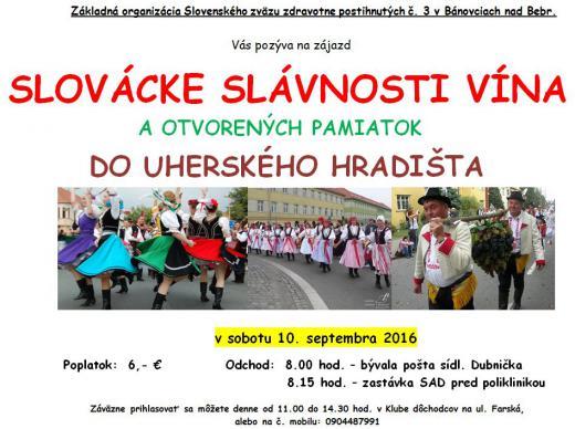 SLOVÁCKE SLÁVNOSTI VÍNA  - Zájazd do Uherského Hradišťa @ Uherské Hradište