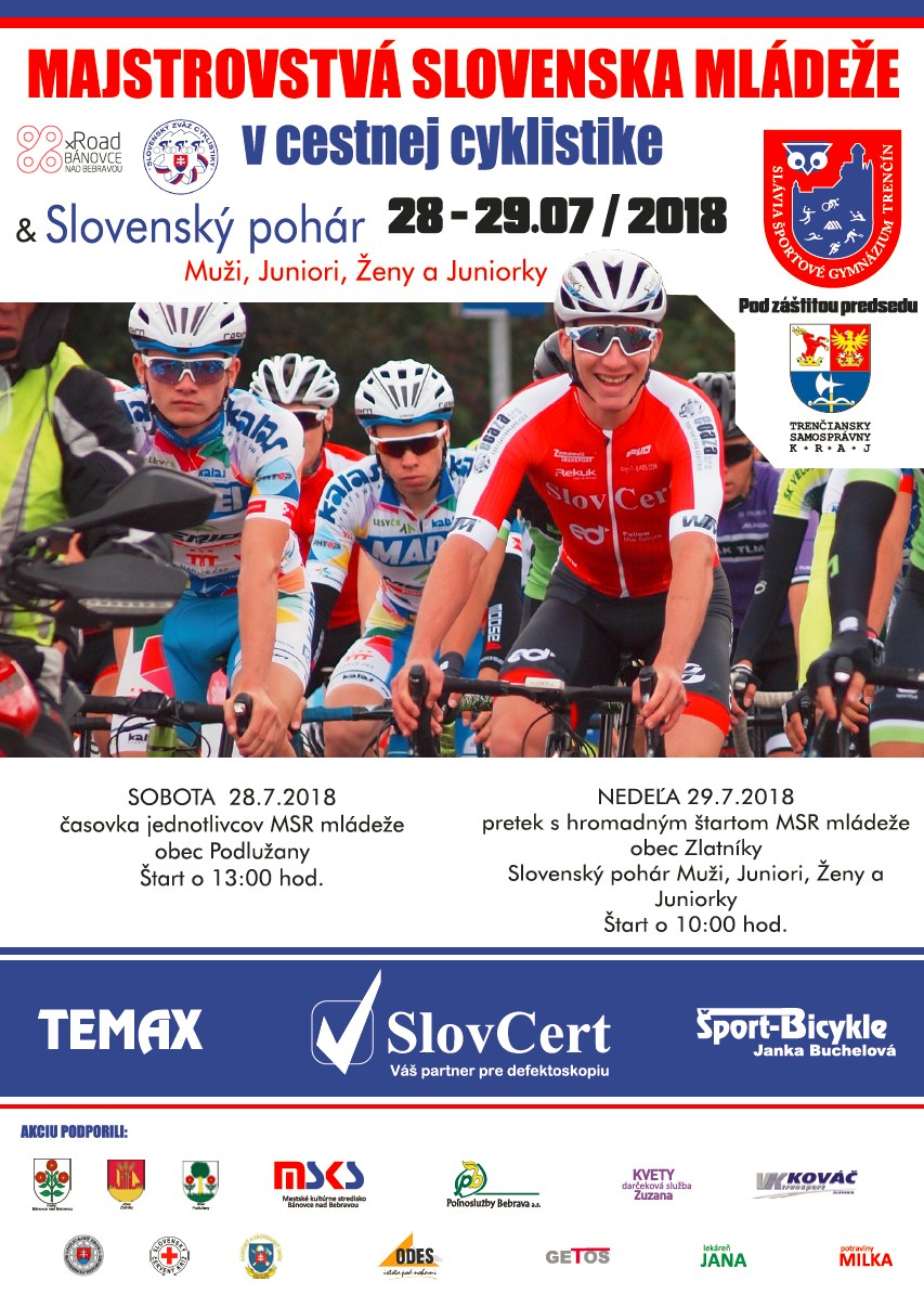 6b2dd4ec1b722 Majstrovstvá Slovenska mládeže v cestnej cyklistike v okolí Bánoviec